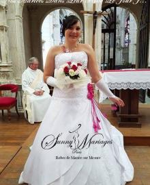 Robe Mariée Mariage Pour Sunny Femme De Ronde f7FnZvf