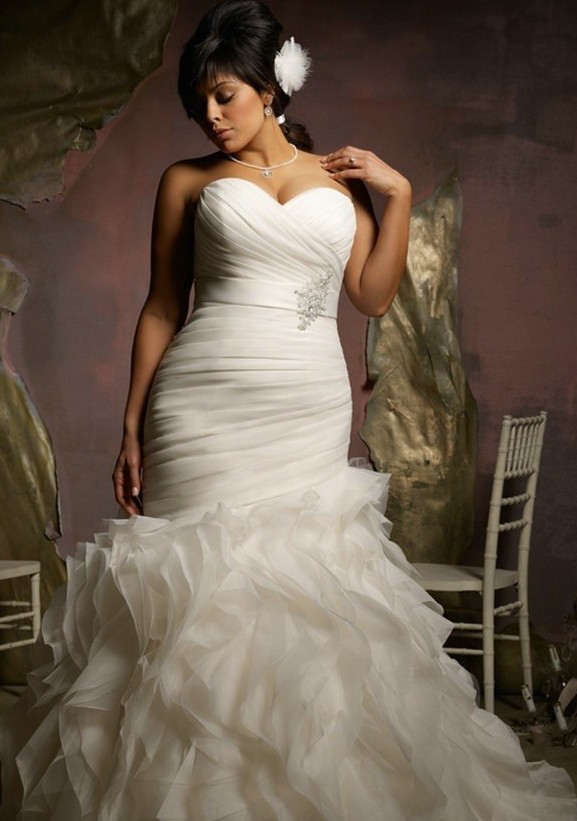... » robe de mariée » Robe de mariée femme ronde « sassofa