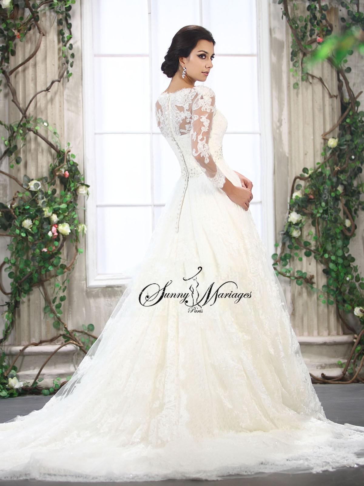 robe de mariée dentelle - robe de mariée princesse  Sunny Mariage