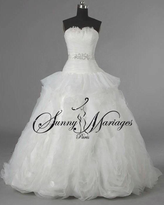 Populaire robe de mariée plume | Sunny Mariage BA14
