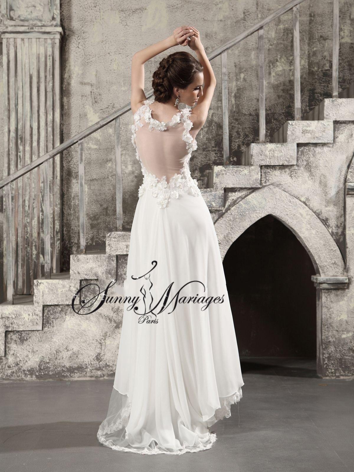 robe de mariee fluide empire Sunnymariages confection robe de mariage ...