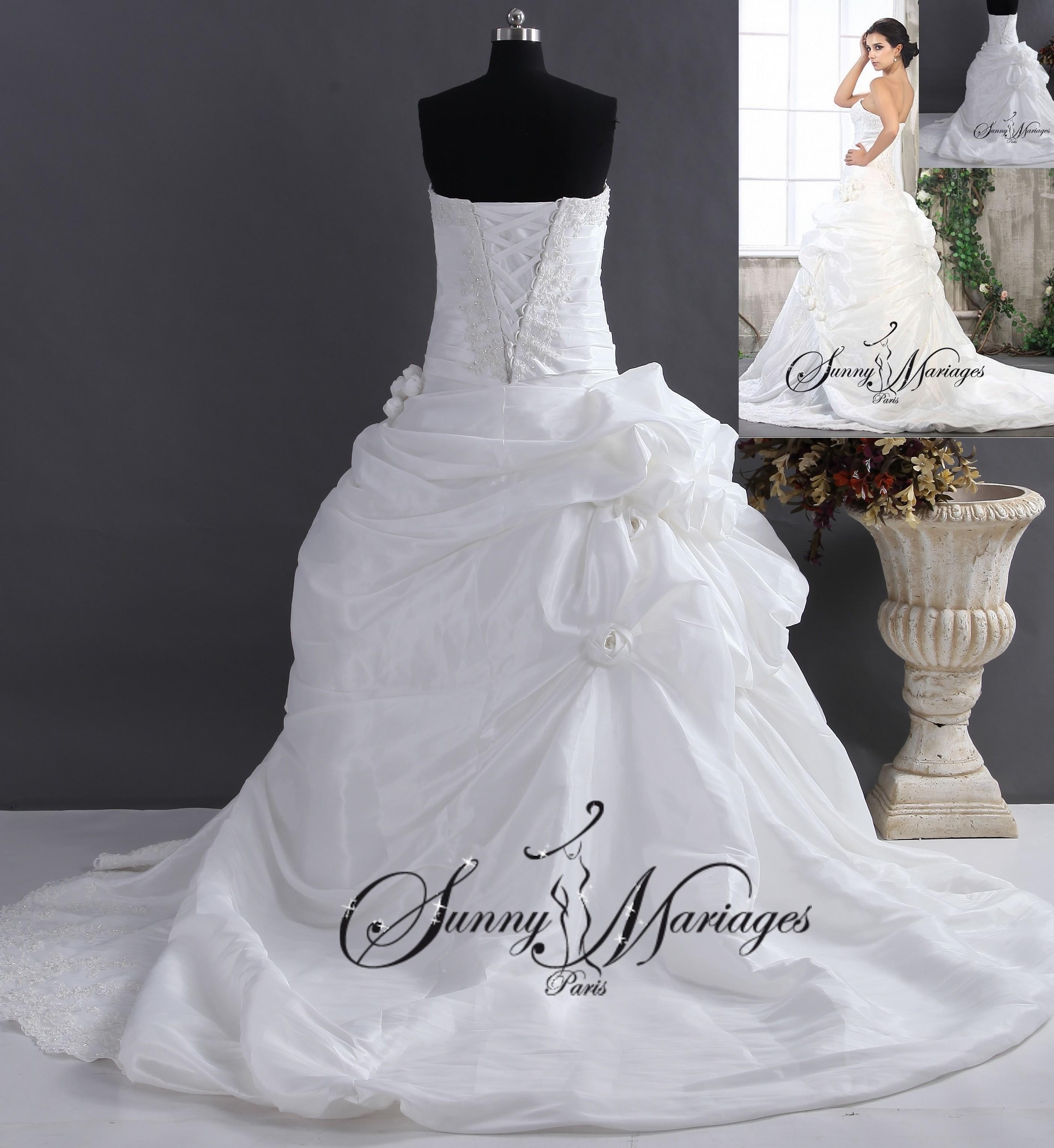 énorme réduction a1d13 b5e54 robe de mariee bustier princesse, robe blanche de mariage 11 ...