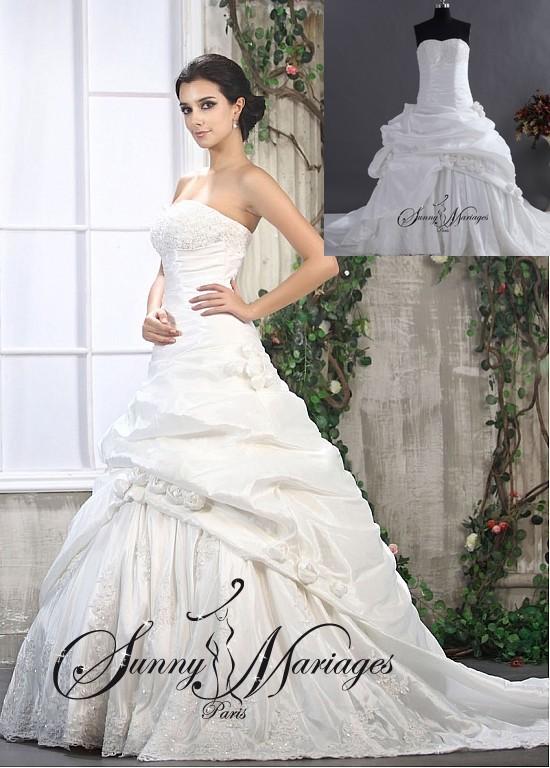 robe de mariee bustier princesse robe blanche de mariage. Black Bedroom Furniture Sets. Home Design Ideas