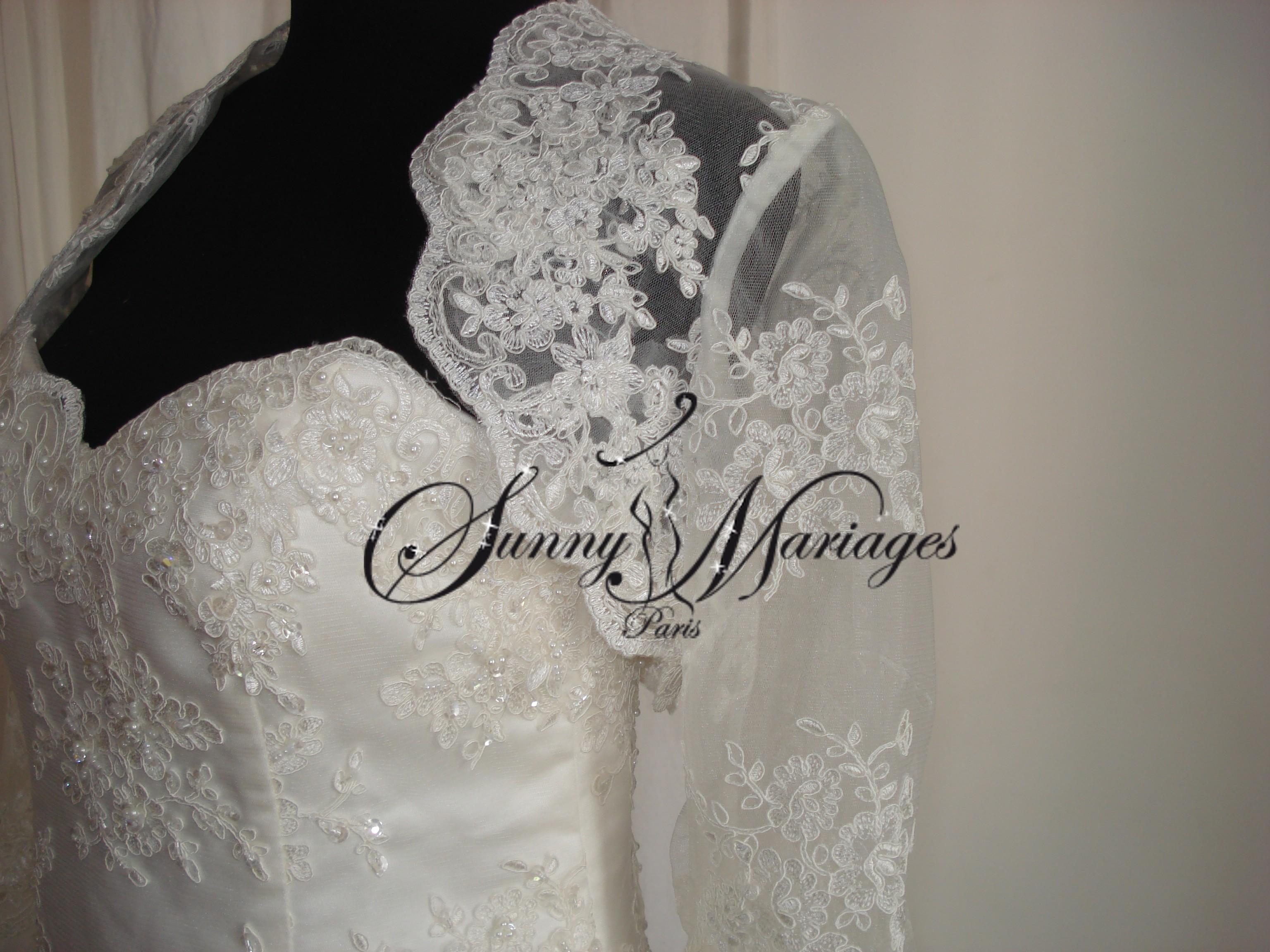 Robe de mariee dentelle et bustier en vente en ligne  Sunny Mariage