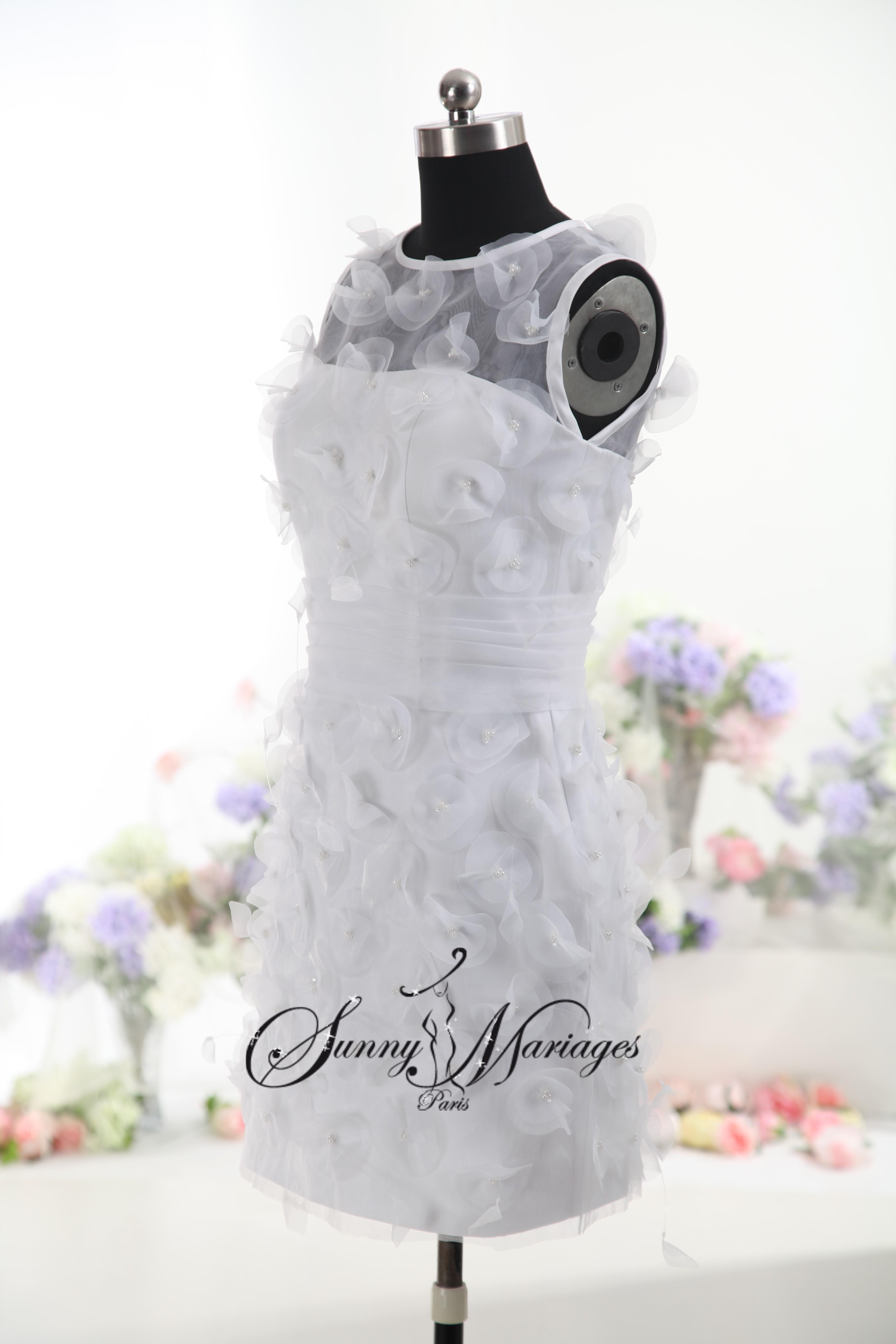 Robe de mariée courte-originale – « Suzette »