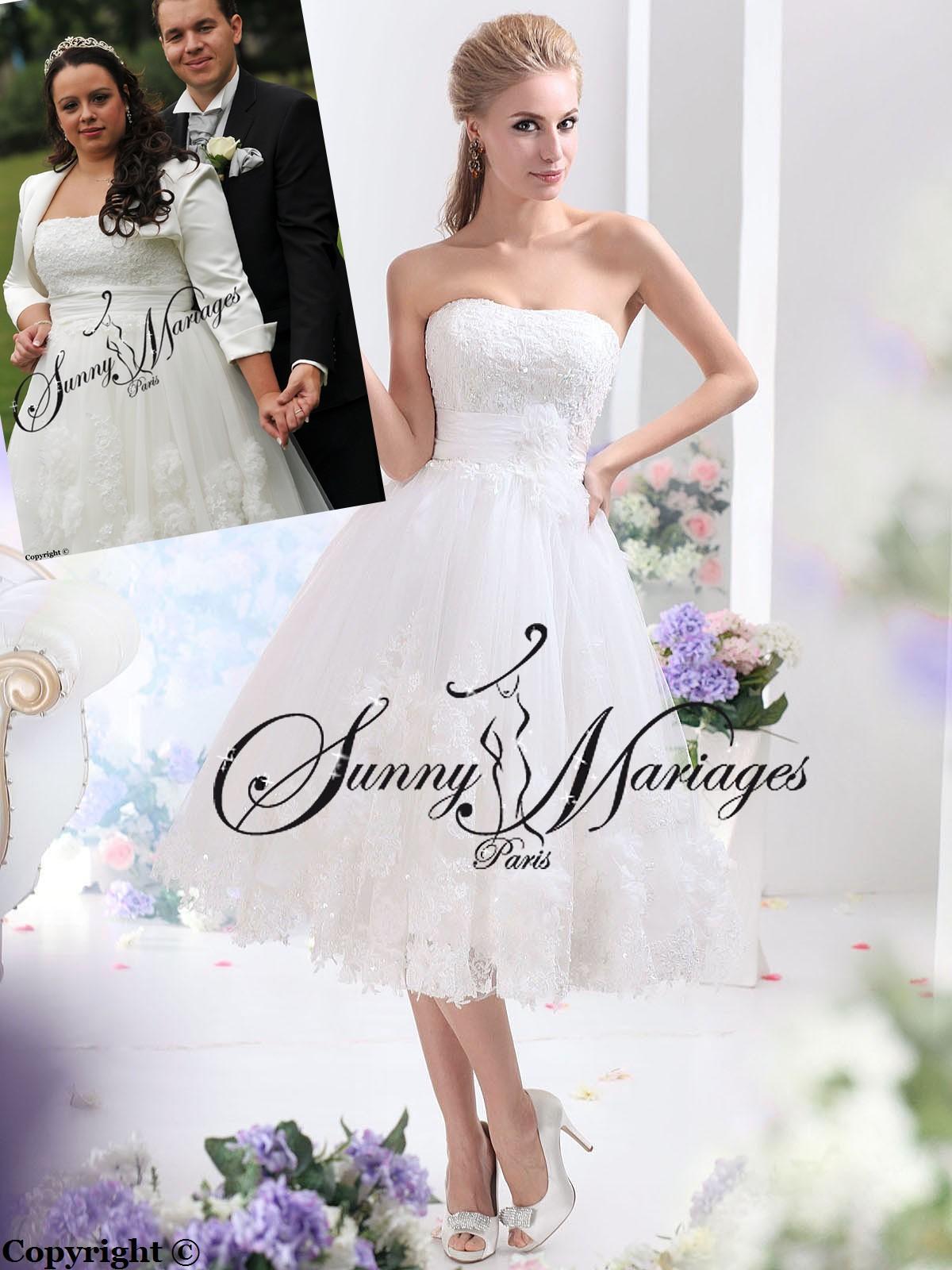 Robe de mariee courte vente en ligne