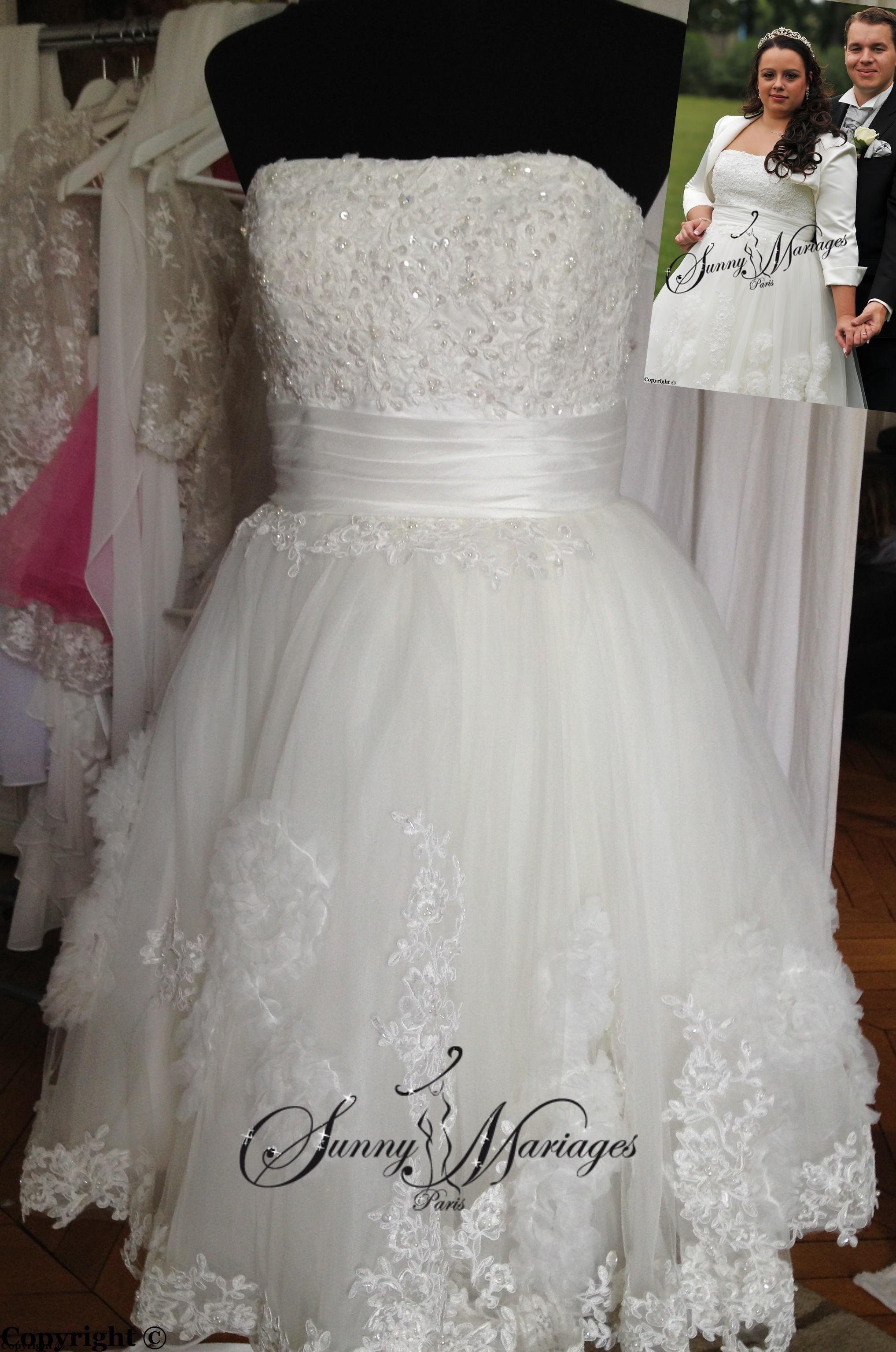 robe de mariee courte en ligne et pas cher  Sunny Mariage