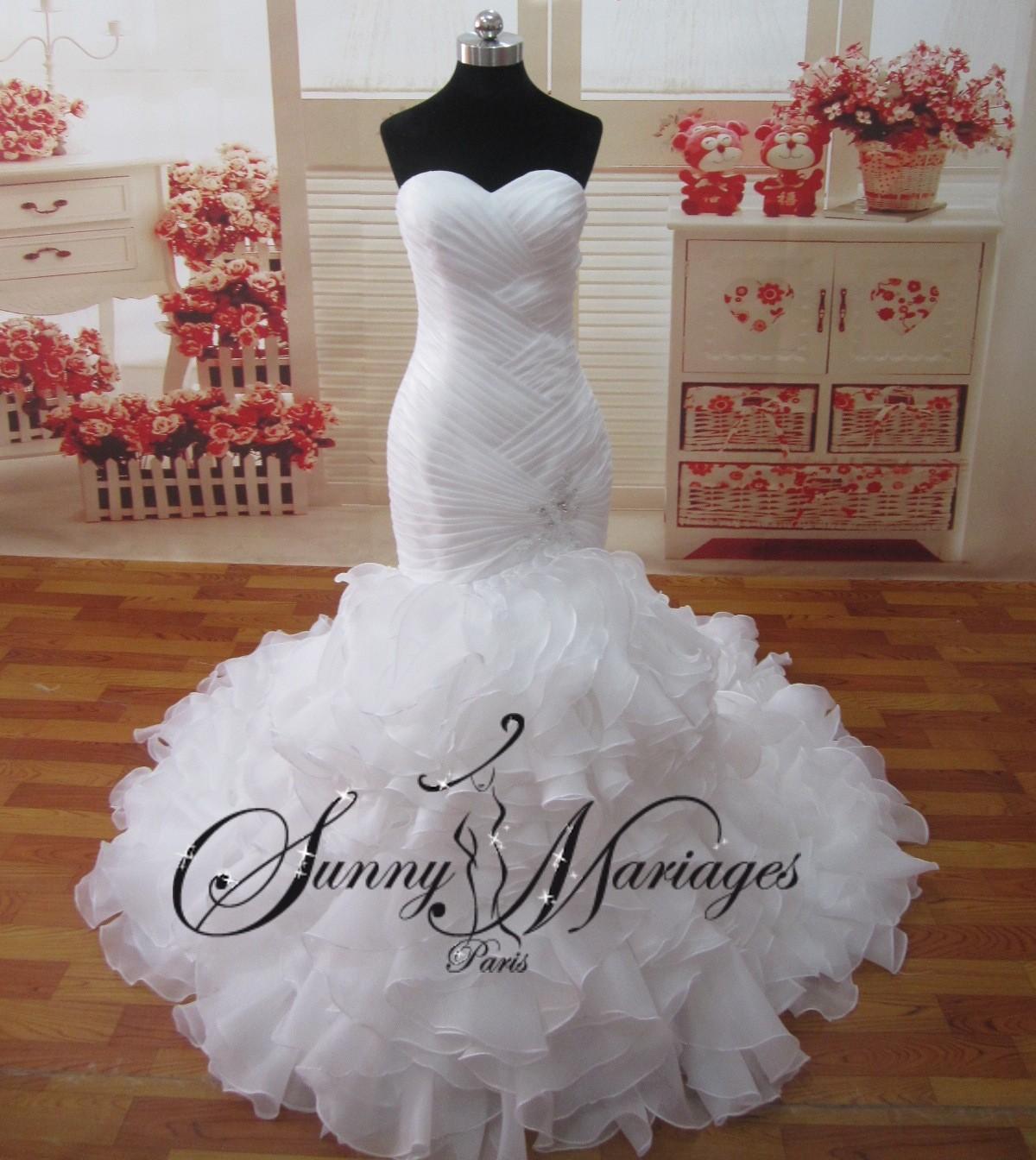 Bien connu robe de mariee princesse en organza froufrou, robe de mariee  GE16