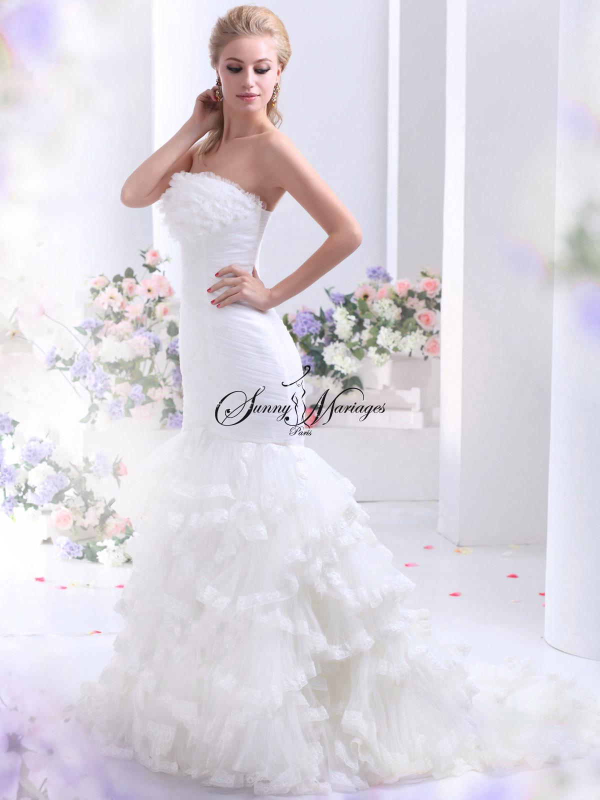robe de mariee tulle et frou frou  Sunny Mariage