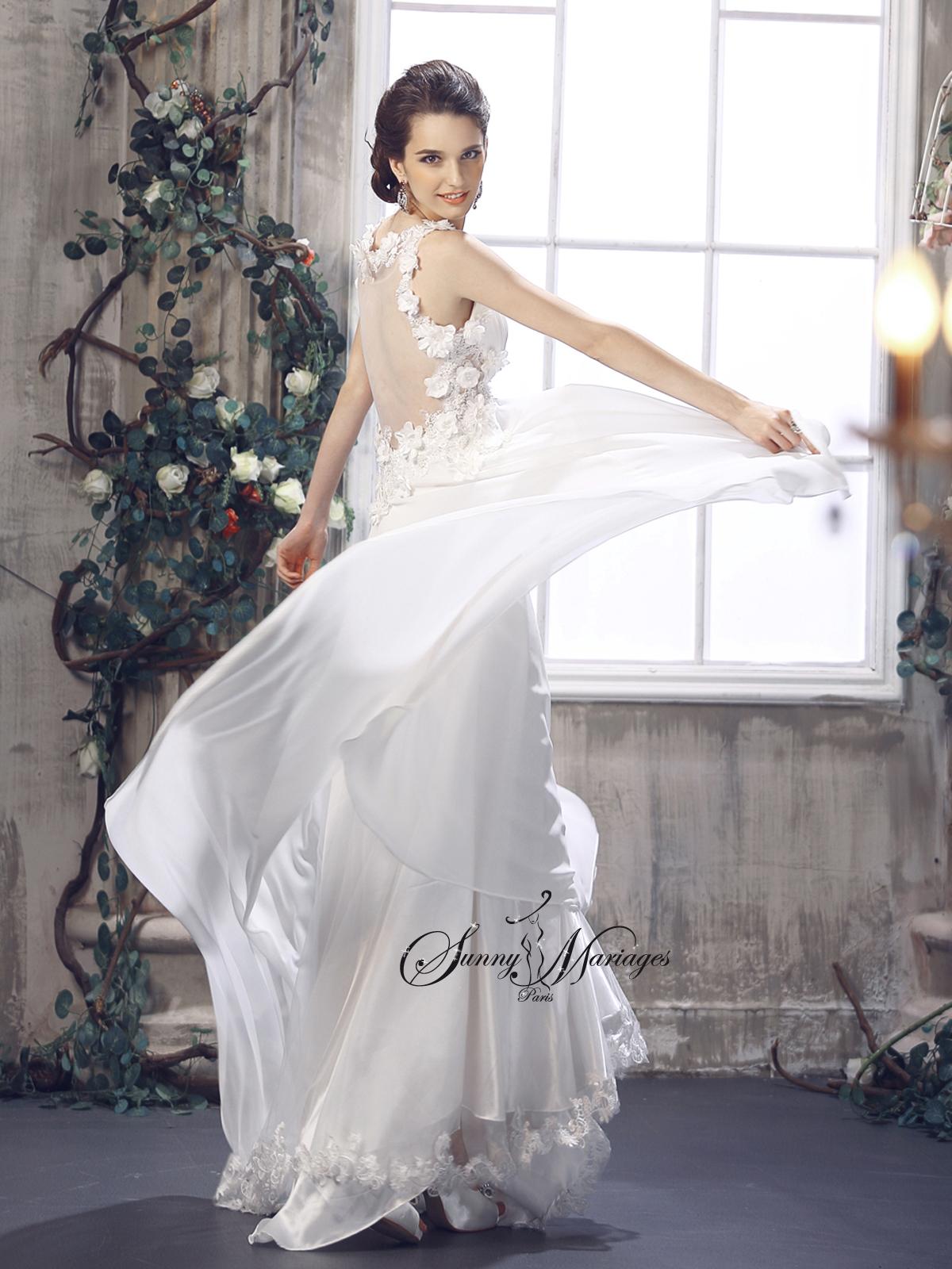 Robe De Mariee Empire Fluide En Mousseline Style Boheme Chic Robe De Mariee Pas Cher Robe De