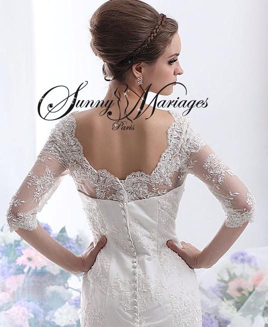 Robe de mariée manches longue en dentelle « Valentina »