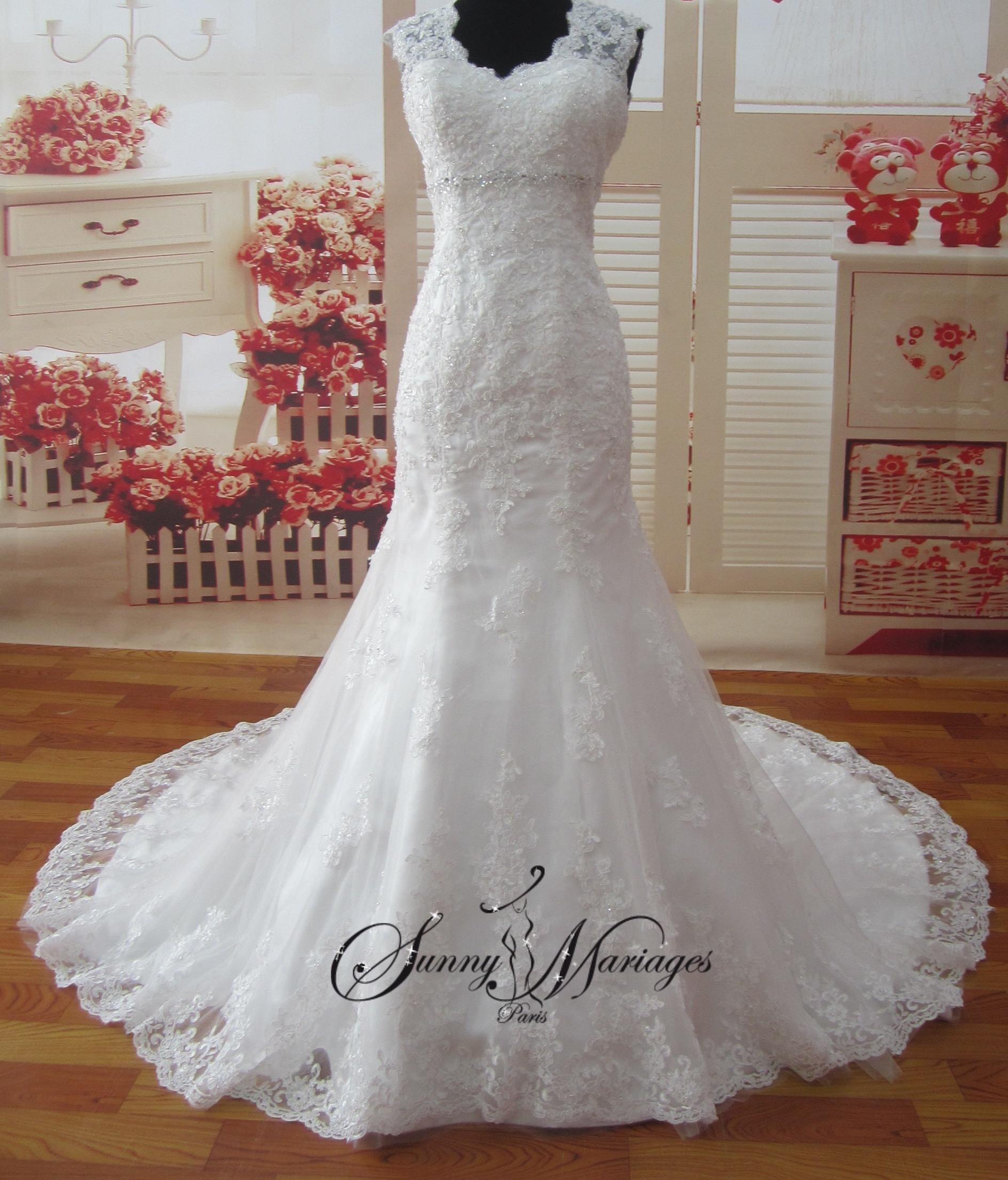 Robes de mariee en dentelle robe de mariee manche robe de mariee fourreau robe blanche de - Robe de mariee manche dentelle ...