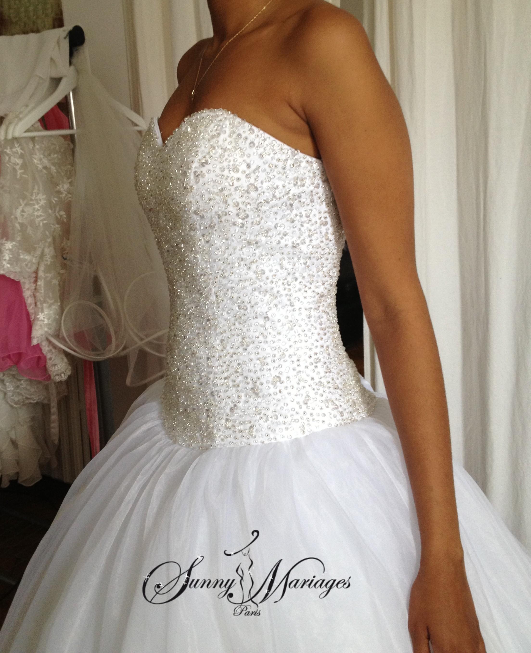 robe de mariee princesse bustier strass 8