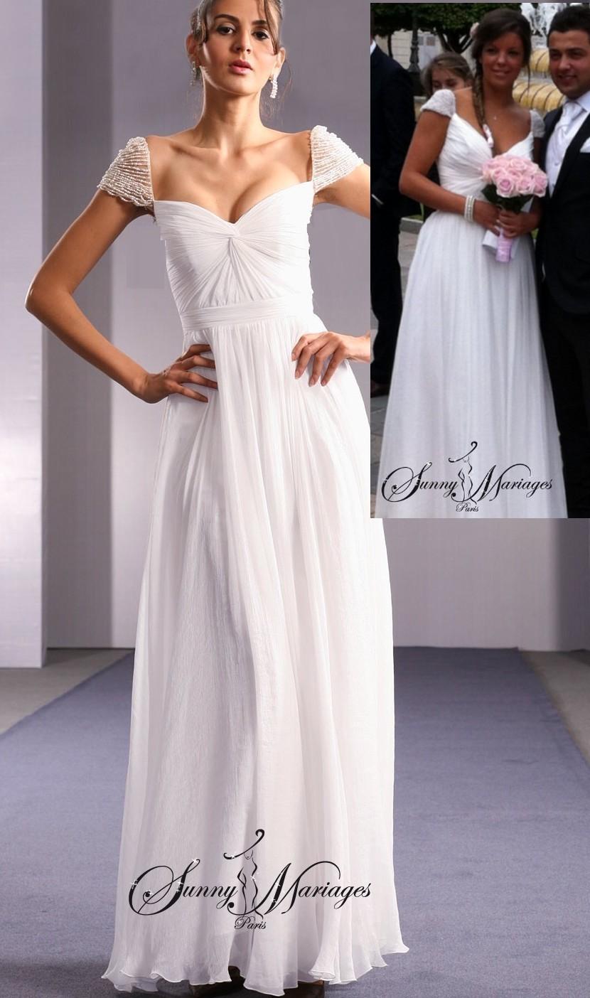 ... Mariages » Robe de Mariée » robe de mariee empire « Savante