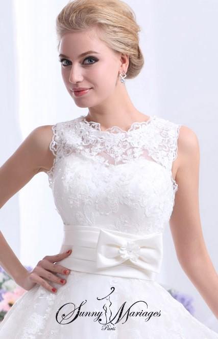 robe de marie dentelle et manche robe de mariee courte robe de mariee princesse robe de. Black Bedroom Furniture Sets. Home Design Ideas