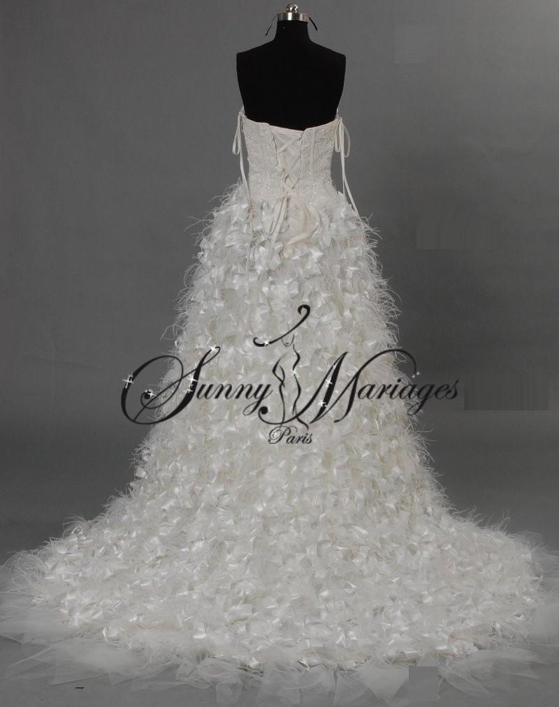 robe de mariée plume – robe de mariée courte devant