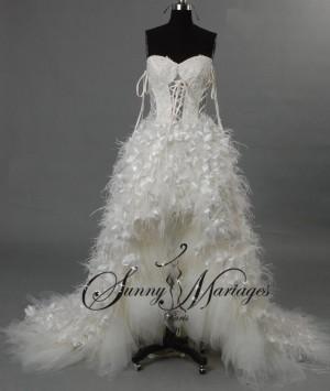 Robe de mari e plume sunny mariage for Loue robe de mariage utah