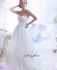 robe de mariee bustier cristaux, robe de mariee princesse, robe de mariee jupe tulle et organza