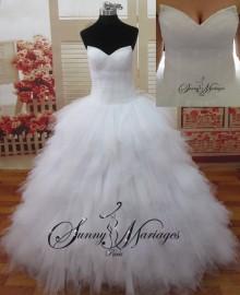 Robe de mariee princesse plume
