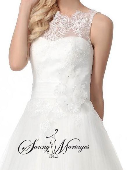 Robe de mariee dentelle et jupe de princesse en tulle for Robe de mariage et jupe