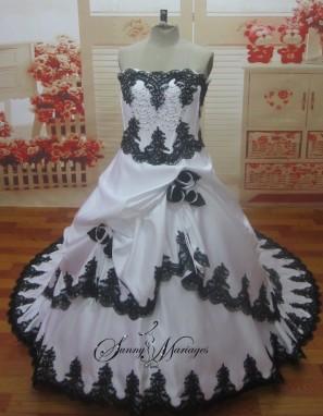 robe de mariee rouge et blanche robe de mariee noir et. Black Bedroom Furniture Sets. Home Design Ideas
