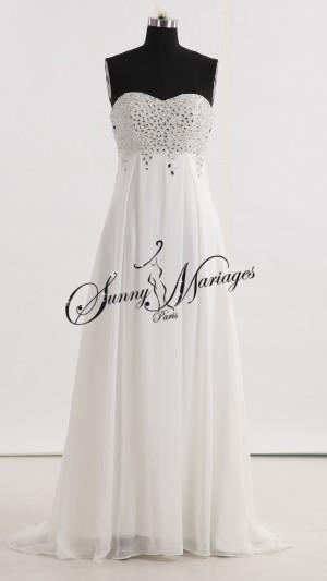 robe de mariee simple et fluide style vintage ou empire sunny mariage. Black Bedroom Furniture Sets. Home Design Ideas