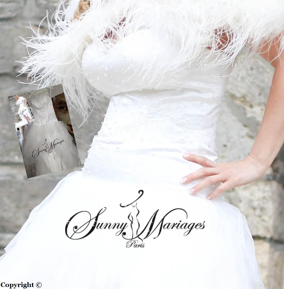 Robe de mariee courte devant et longue derri re tulle et for Loue robe de mariage utah