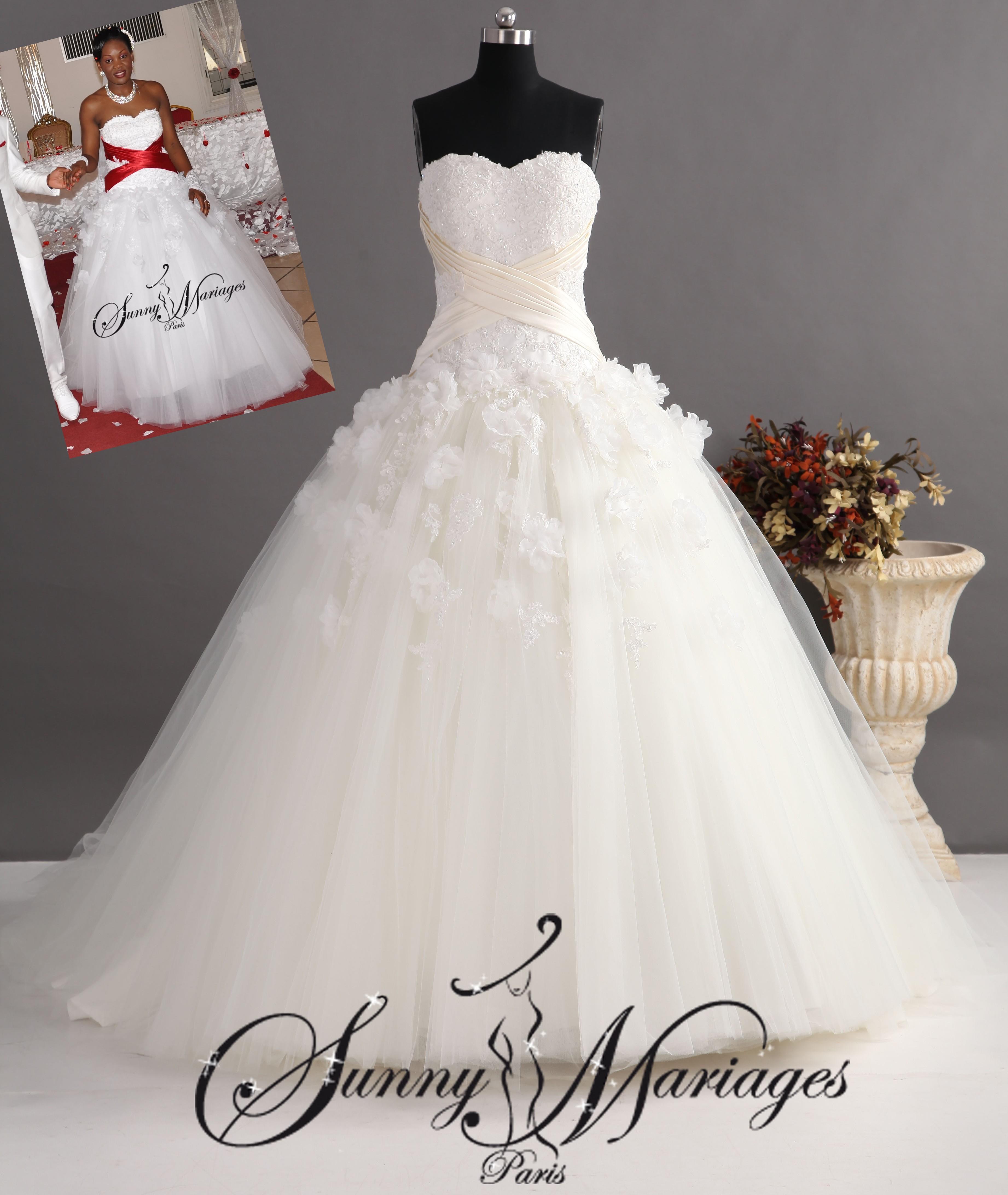 Jupon robe de mariee fluide