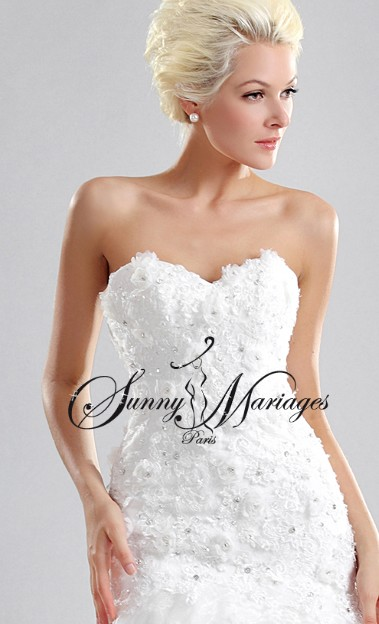 robe de mariee sirene bustier coeur sunny mariage. Black Bedroom Furniture Sets. Home Design Ideas