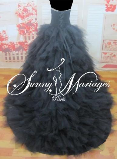 robe de marie noire pas cher vente en ligne ou sur r v. Black Bedroom Furniture Sets. Home Design Ideas