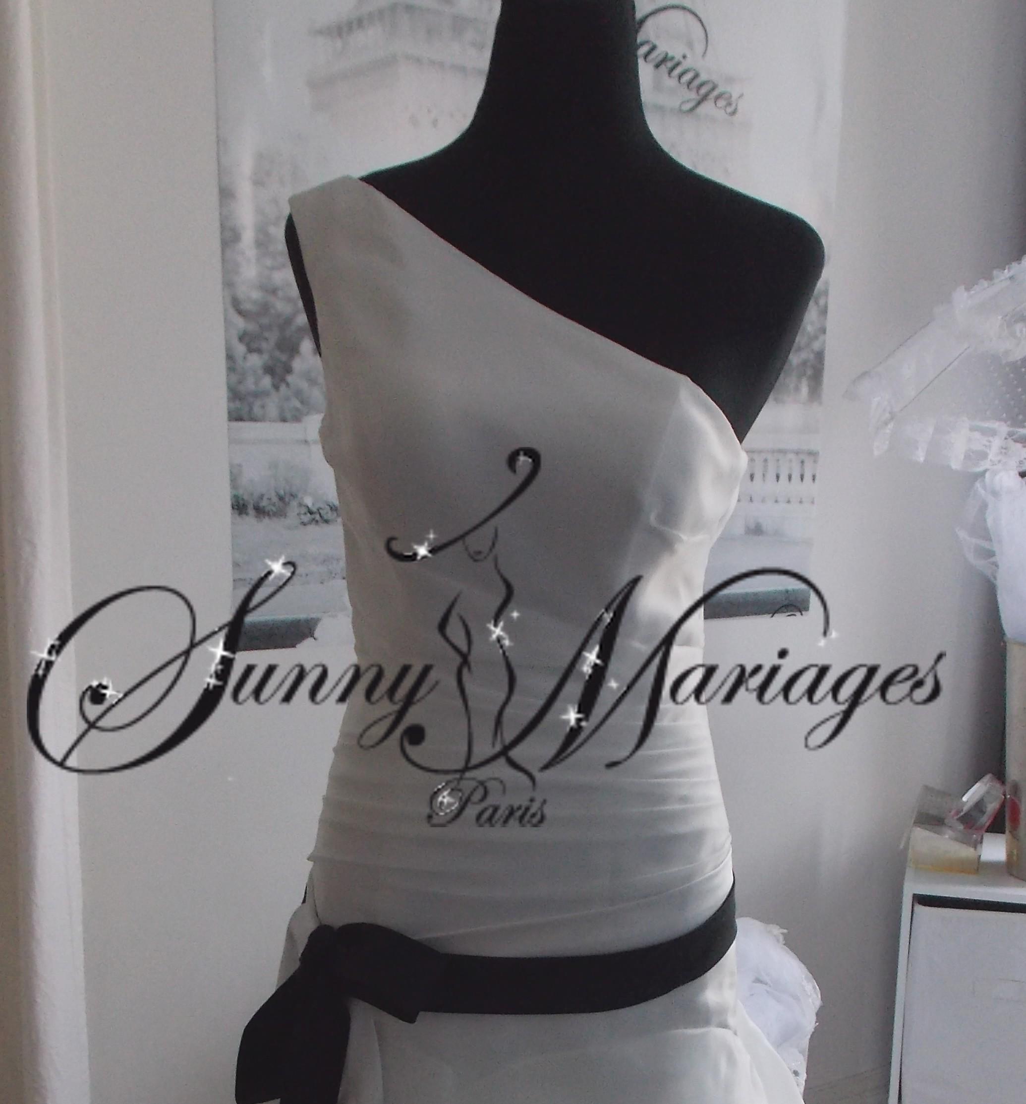 robe de mariee une bretelle ceinture couleur noire vente en ligne pas ...