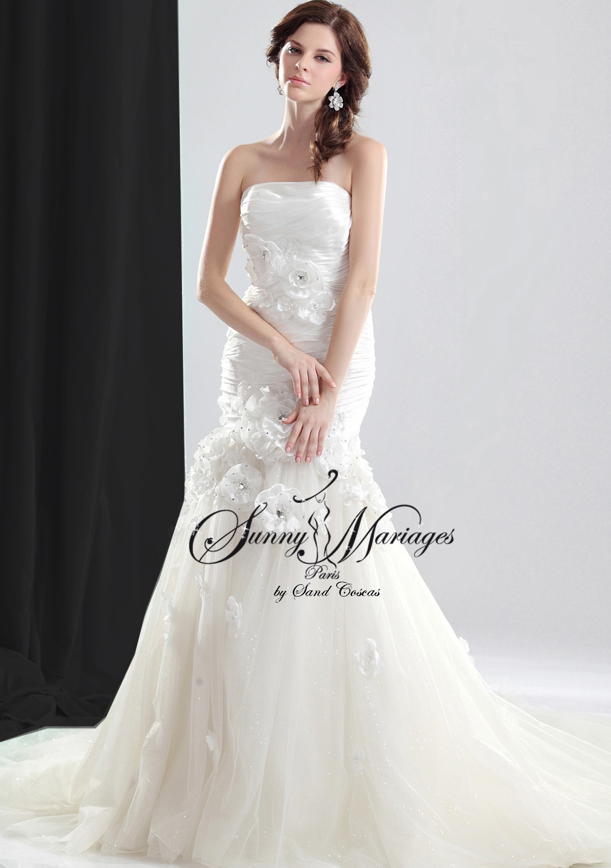 Robe En Tulle Fluide Collection Robes De Mariee SUNNY MARIAGES Vente