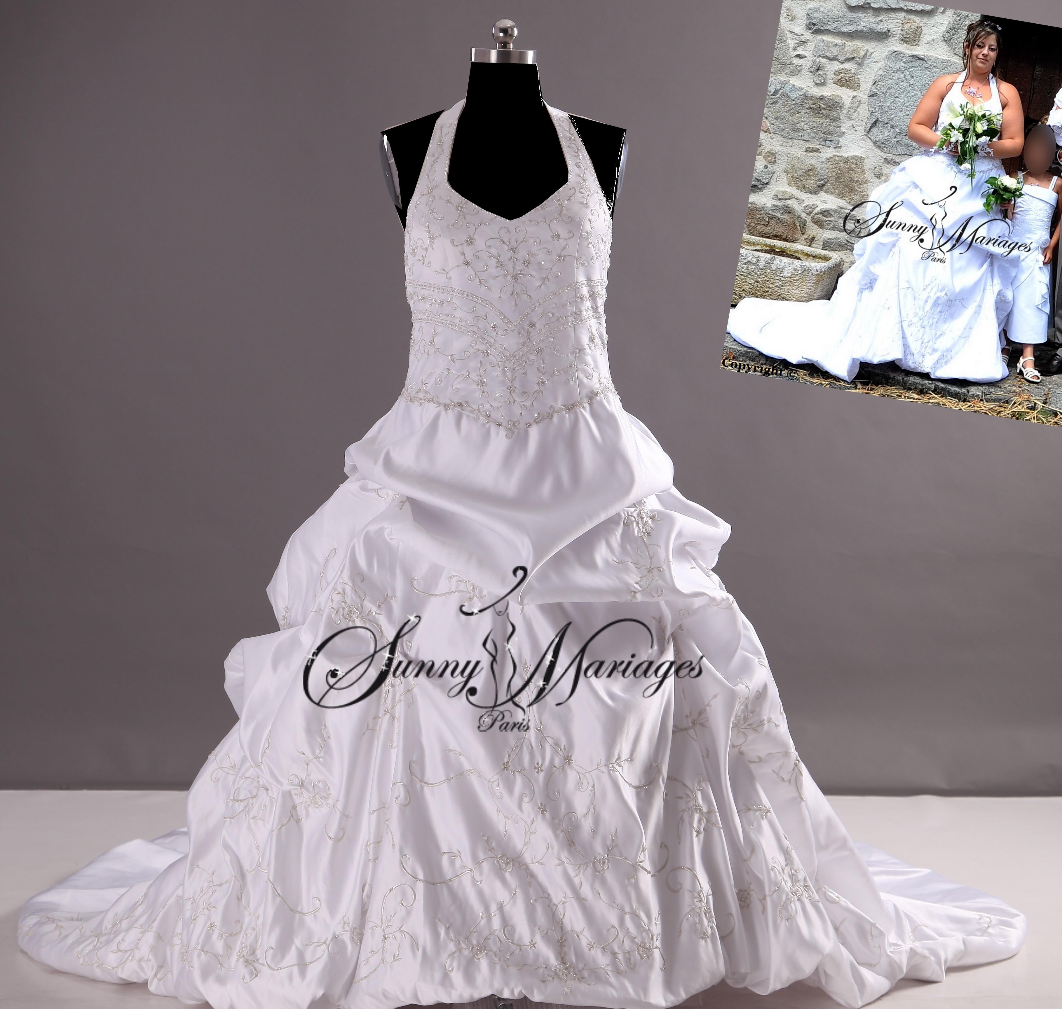 robe de mariee princesse r alisable en grande taille sunny mariage. Black Bedroom Furniture Sets. Home Design Ideas