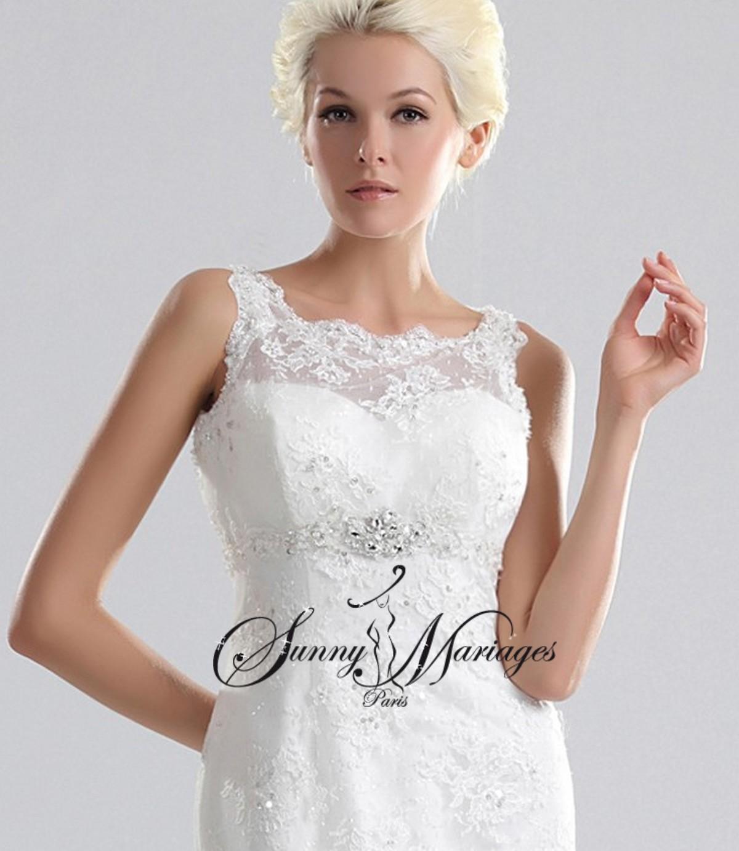 robe de mariee dentelle chic et pas cher en ligne ou sur r v sunny mariage. Black Bedroom Furniture Sets. Home Design Ideas