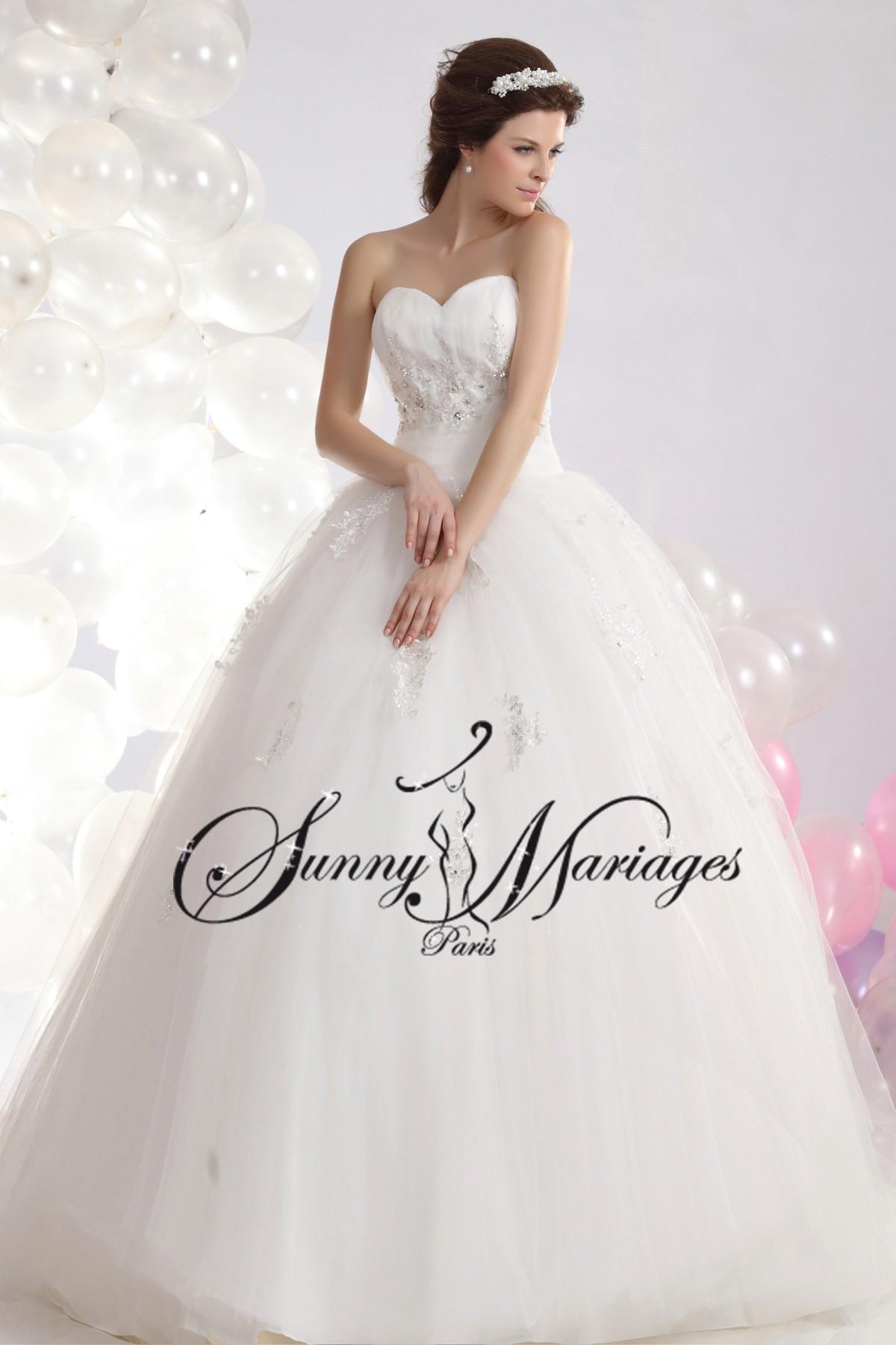 ... » robe de mariée » Robe de mariee bustier princesse « Tara