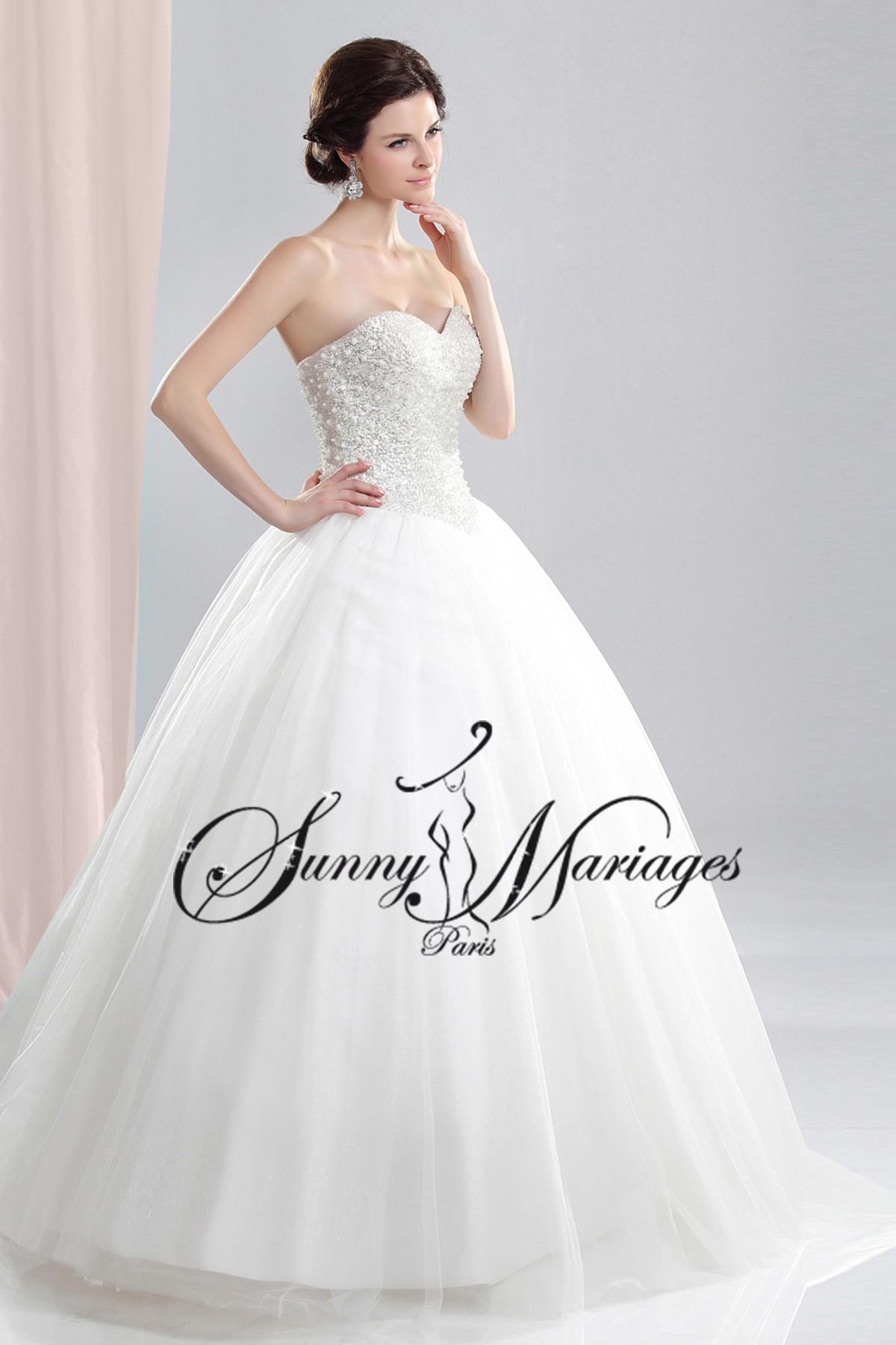 robe de mariee princesse bustier perlé.jpg SUNNYMARIAGES robes de ...
