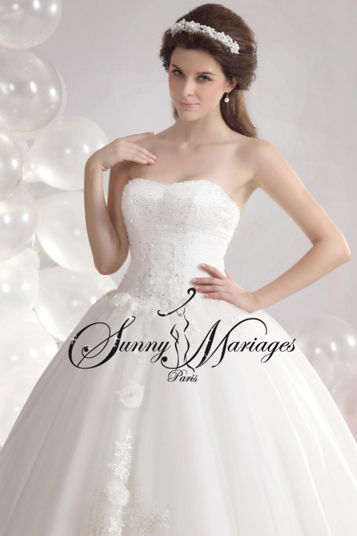 Robe de mariee princesse et bustier chic et pas chere sunny mariage - Reponse la princesse ...