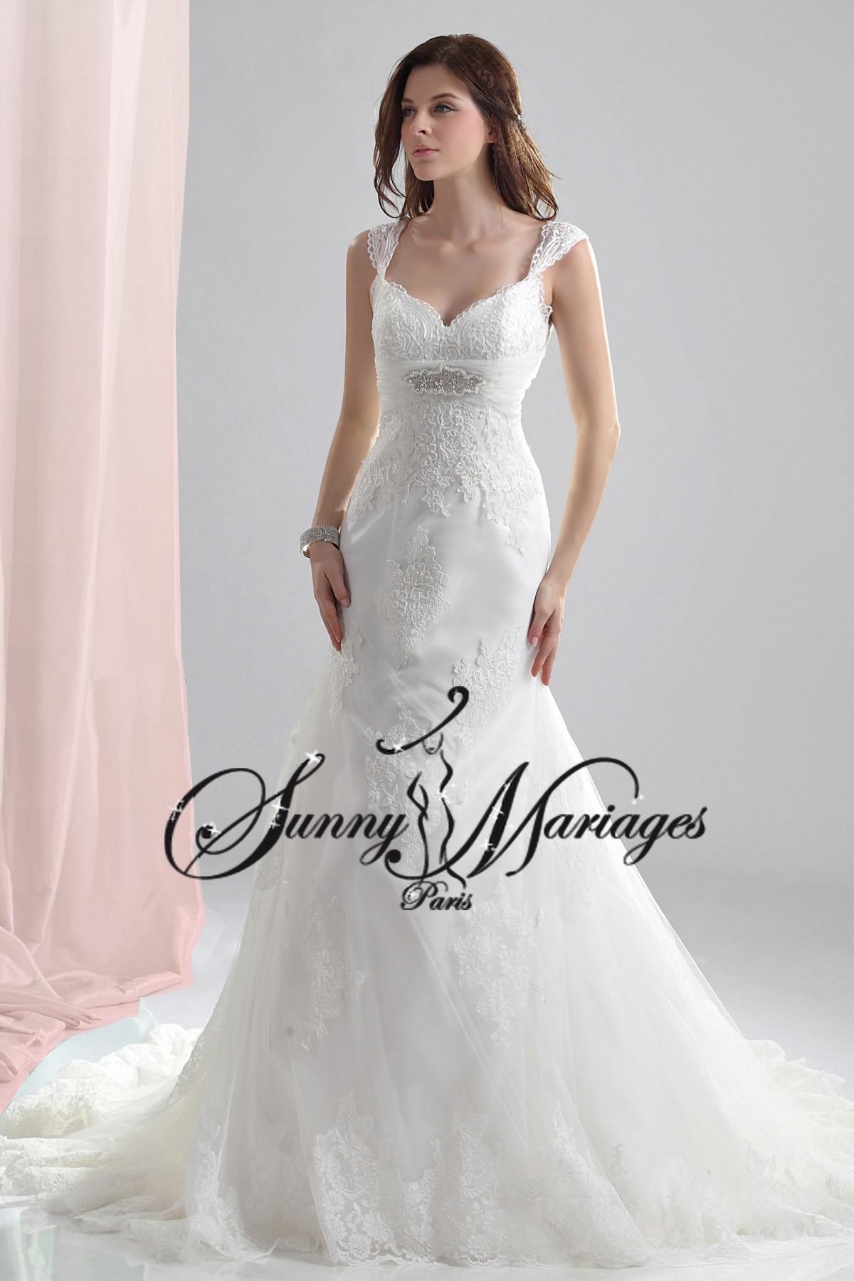 robe de mariee sirene bustier bretelle en dentelle SUNNY MARIAGES 2014 ...