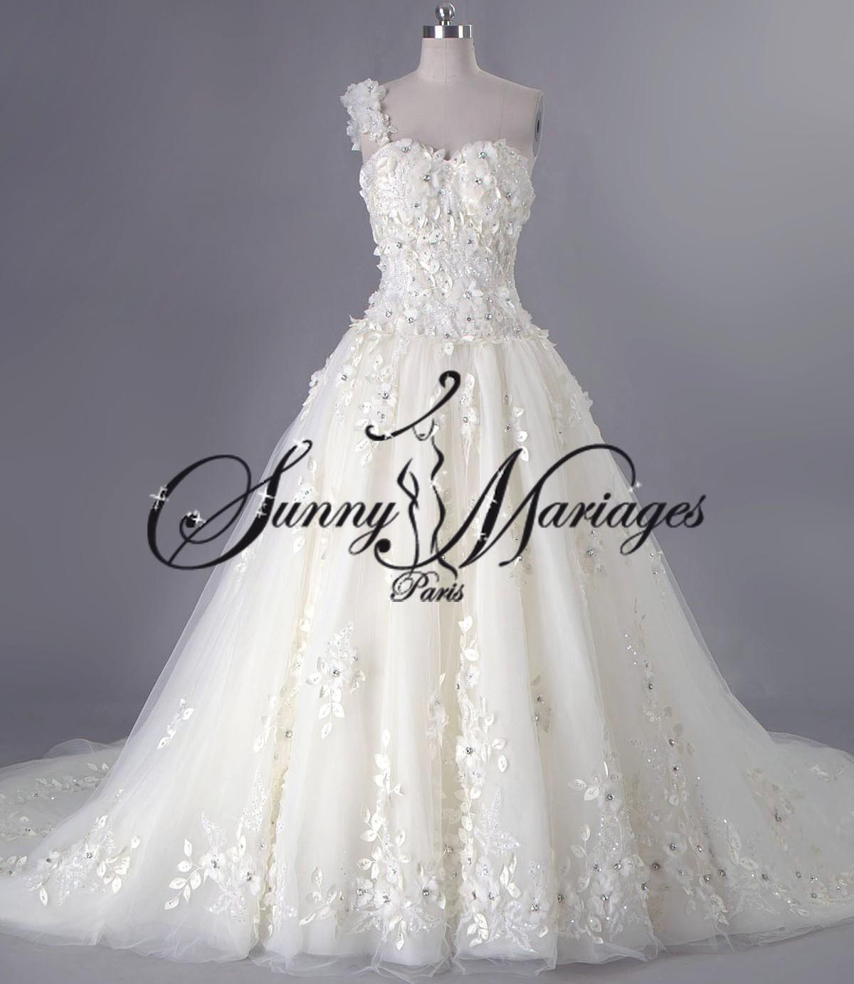 mieux aimé vente chaude réel performance fiable robe de mariee princesse originale bustir bretelle sur ...