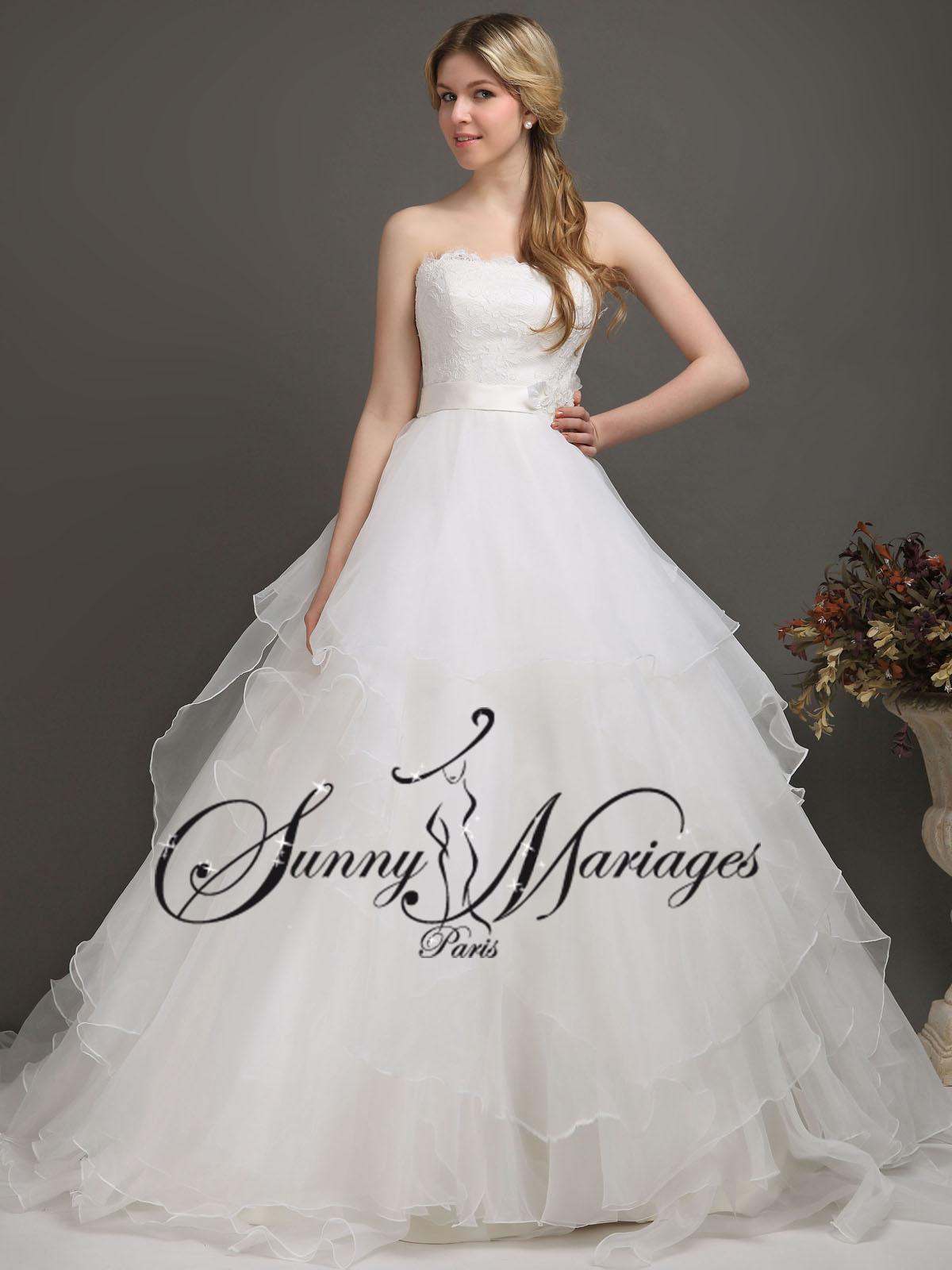 robes de mari e princesse bustier dentelle sunny mariage. Black Bedroom Furniture Sets. Home Design Ideas