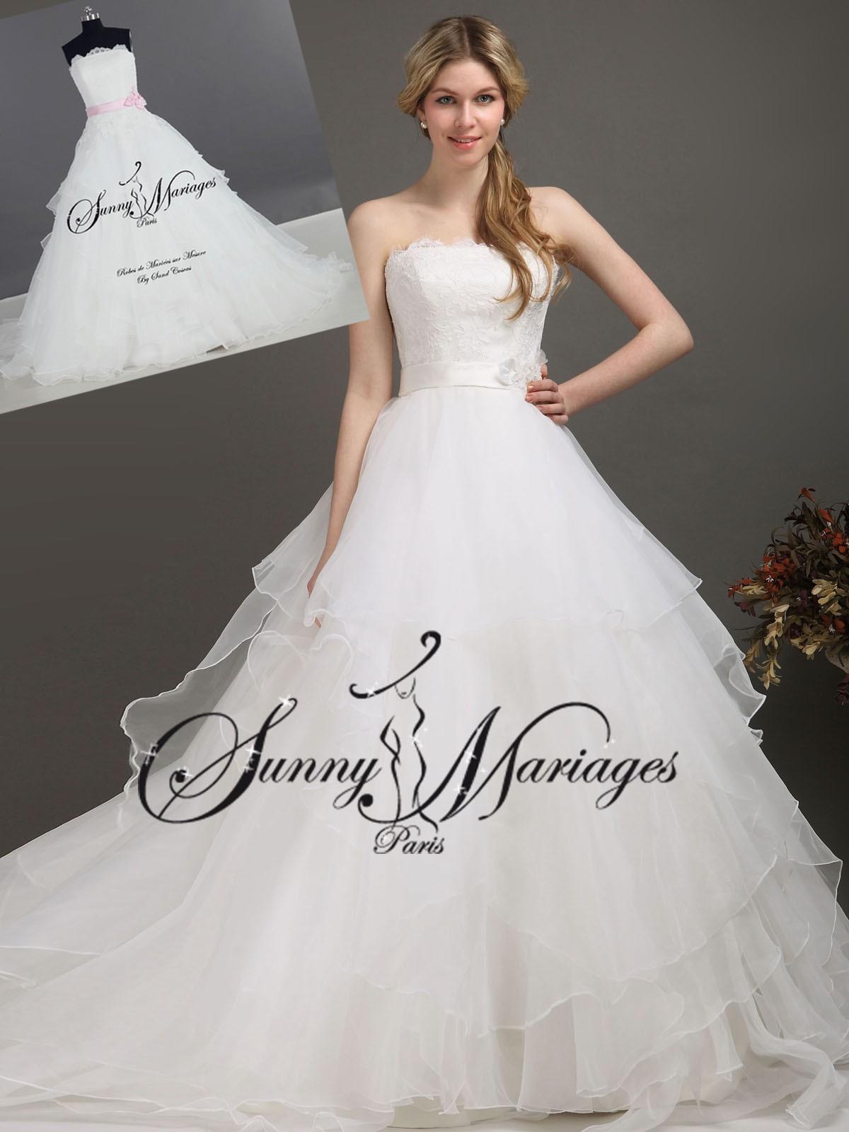 Robe de mariee organza for Chercher une robe pour un mariage