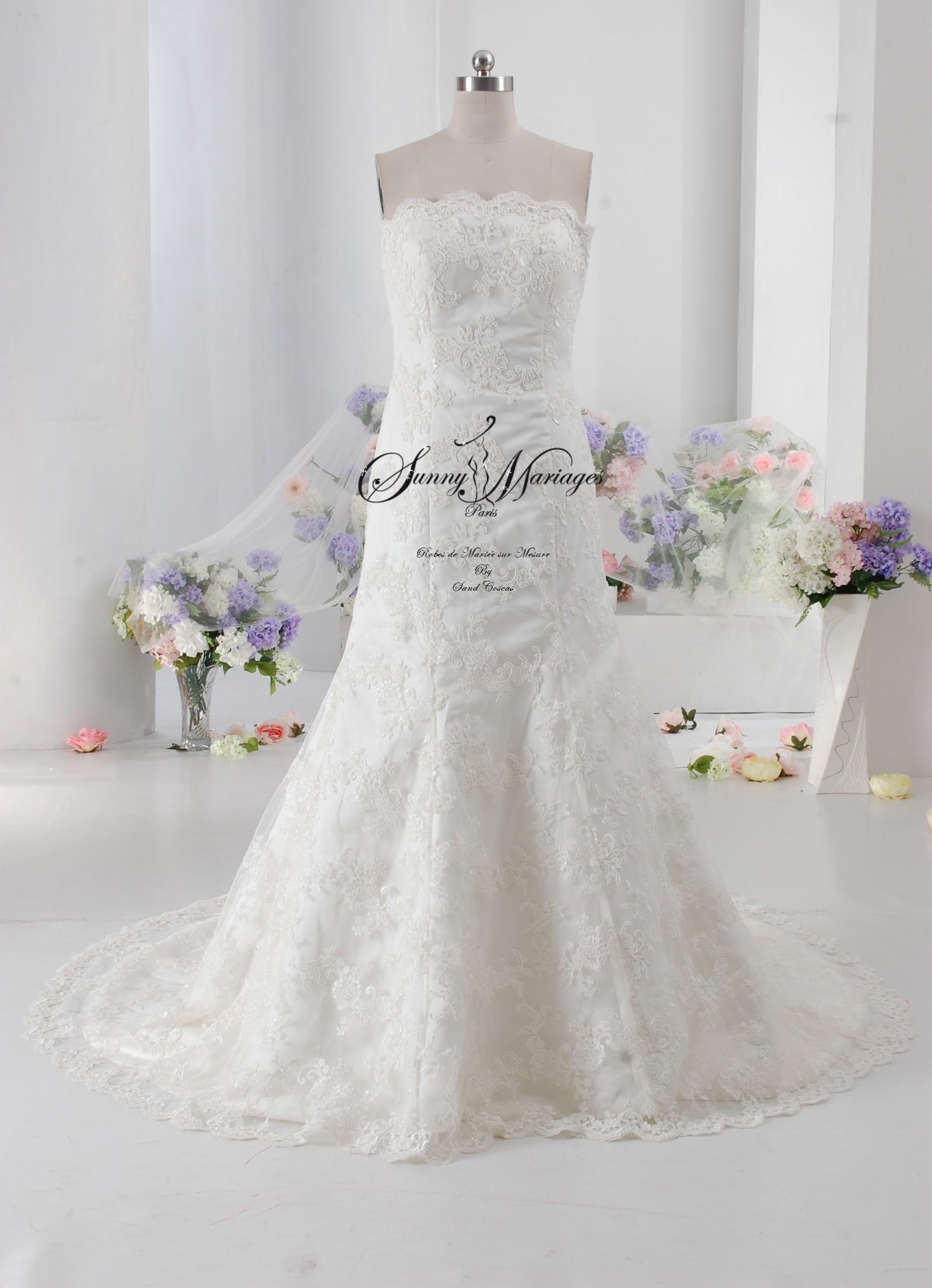 Robe mari e bustier dentelle sur mesure en ligne ou sur r for Comment faire la robe de mariage cupcake