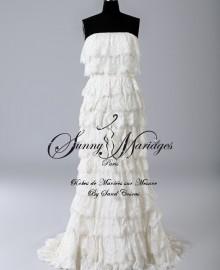 robe de mariage dentelle blanche sur mesure SUNNY MARIAGES PARIS