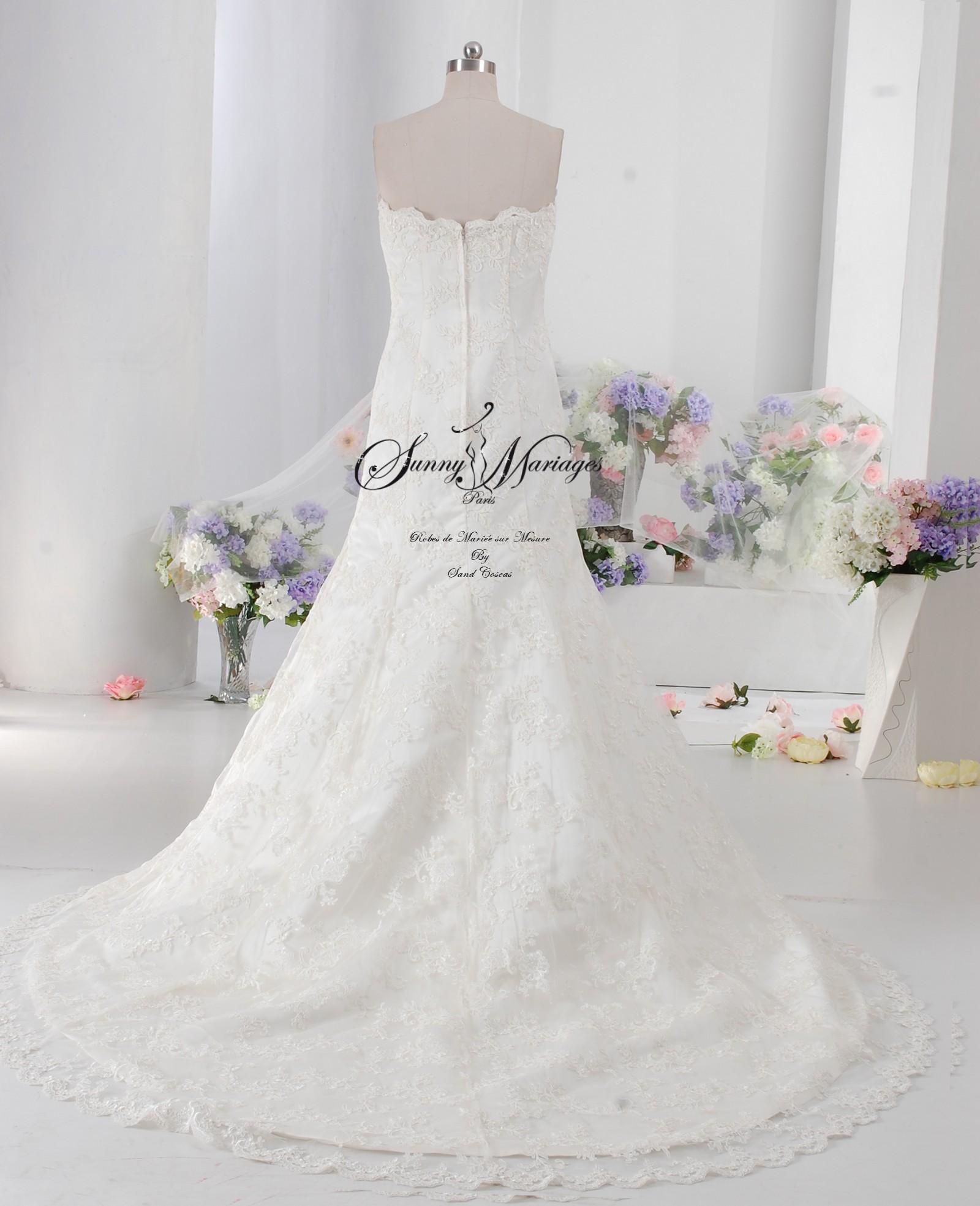 robe mariée bustier dentelle sur mesure en ligne ou sur R.V  Sunny ...