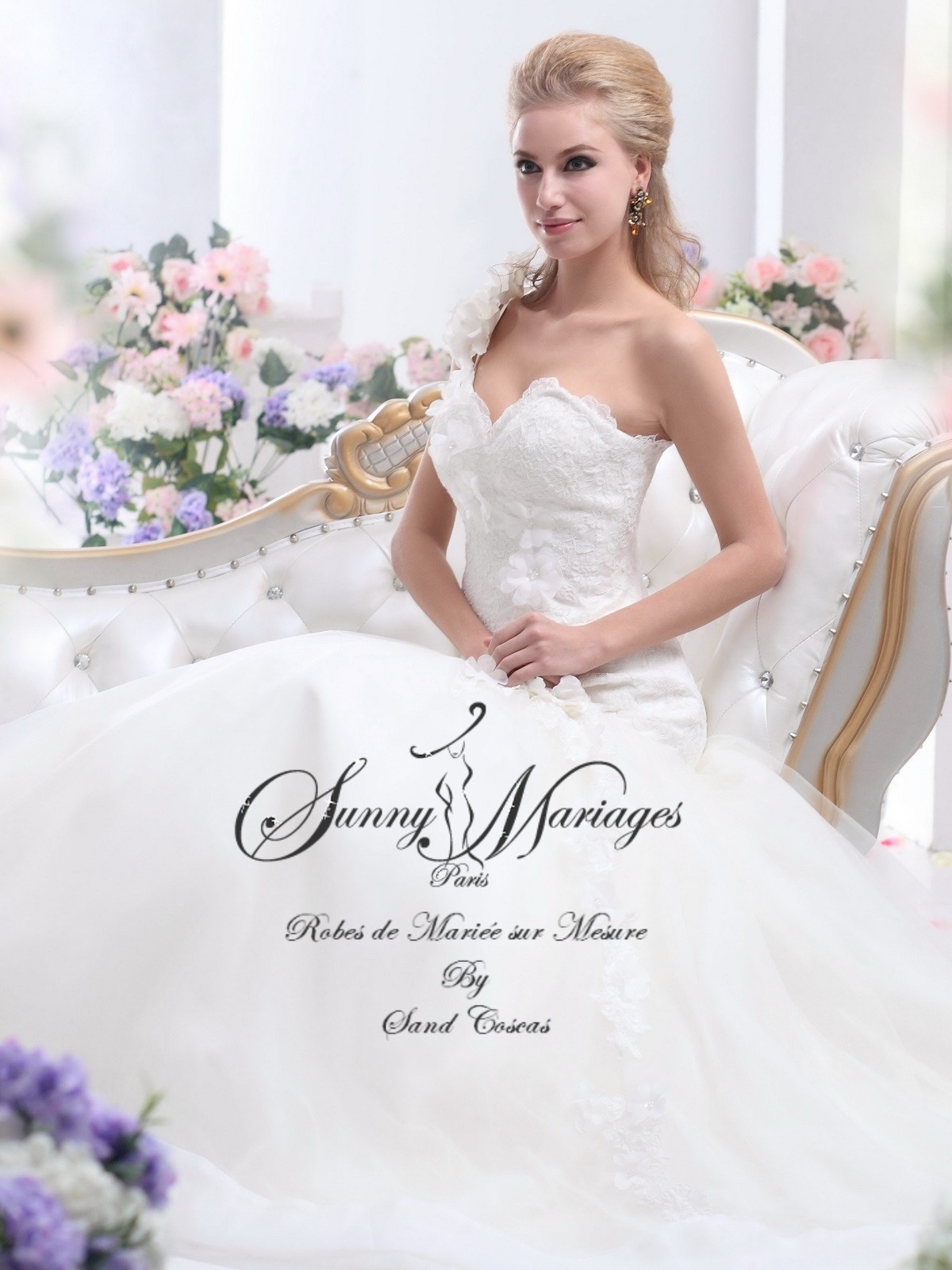 robe de mariage bustier dentelle et tulle cuope sirène SUNNY MARIAGES ...