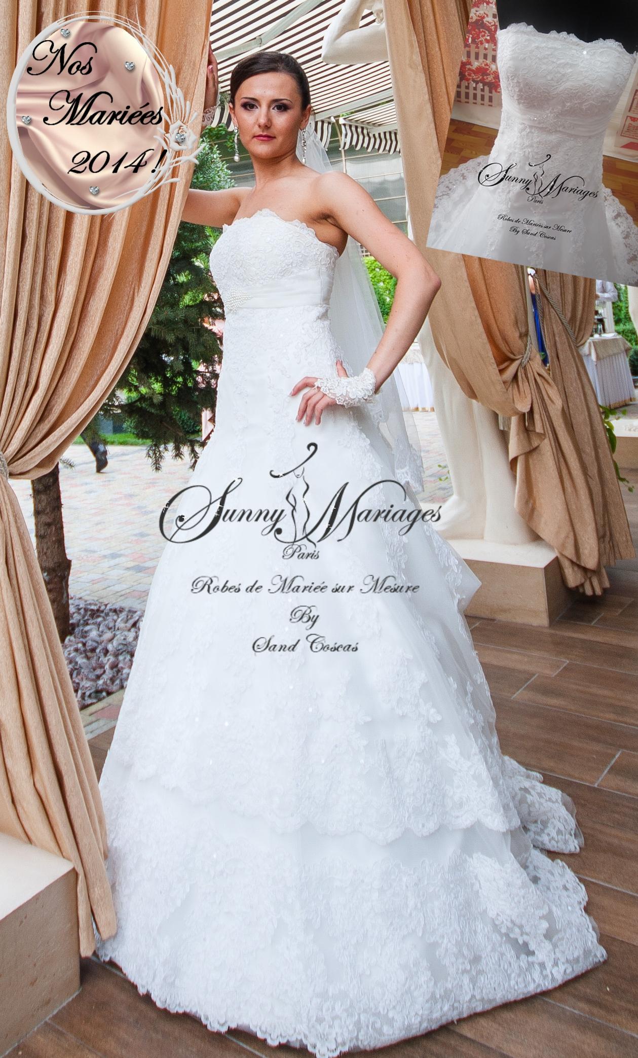 robes de mariée bustier A line dentelle Sunny Mariages Paris sur ...