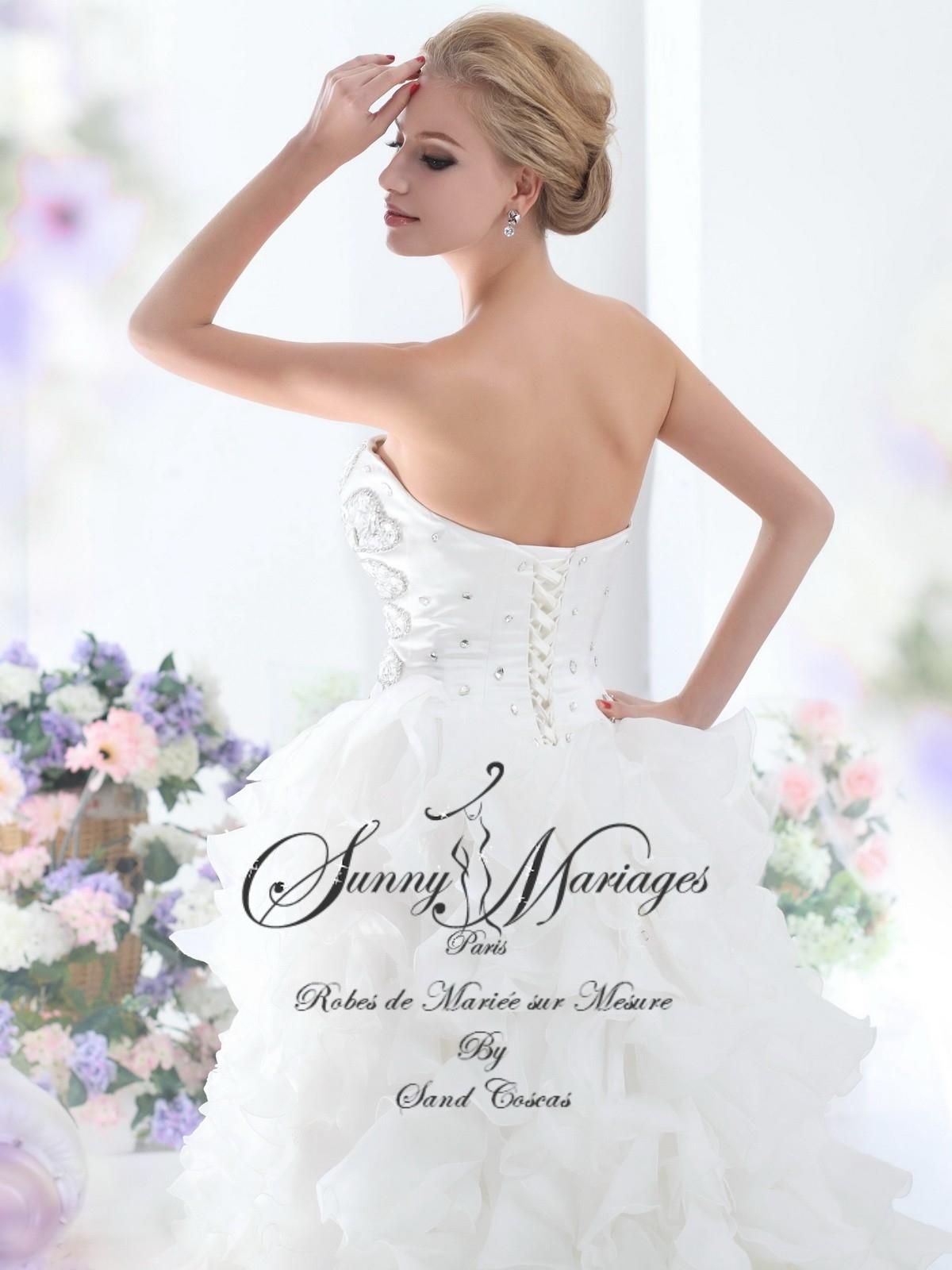 Robe de mariee bustier original strass SUNNY MARIAGES PARIS sur mesure ...