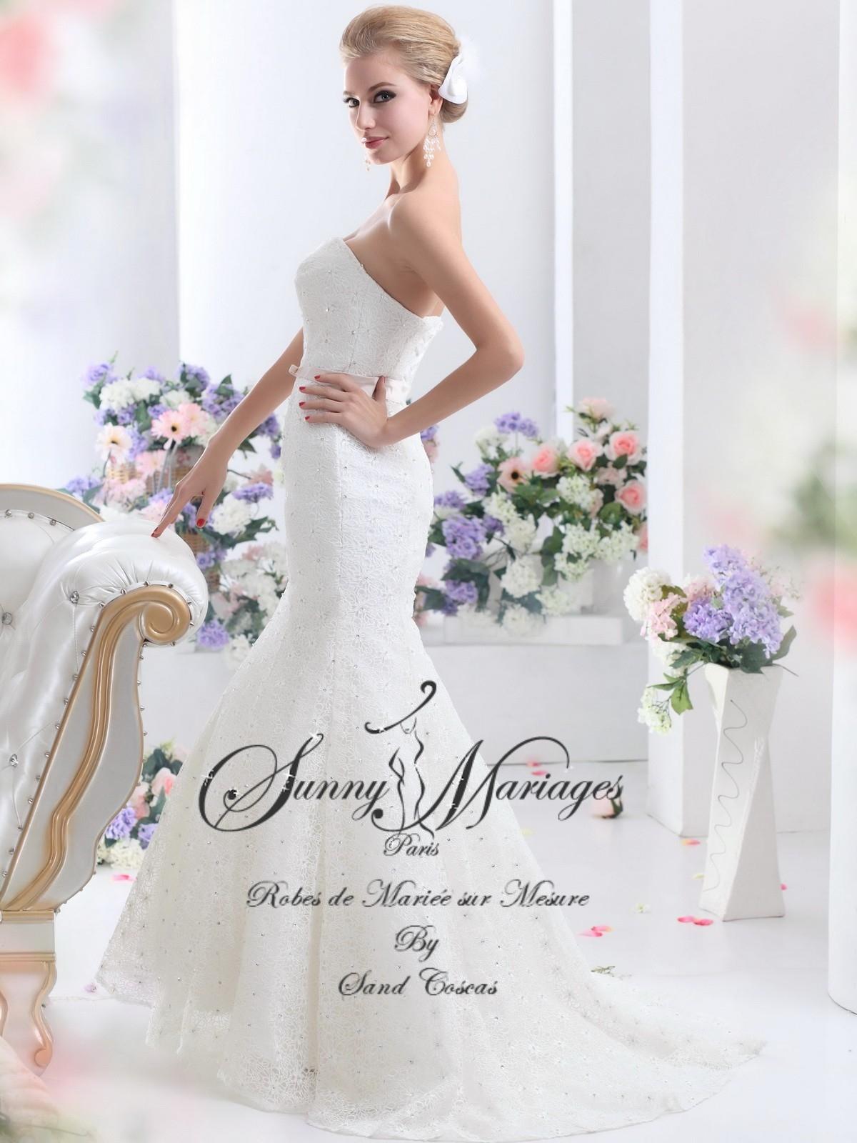 robe de mariee bustier fourreau sirene SUNNY MARIAGES PARIS  Sunny ...