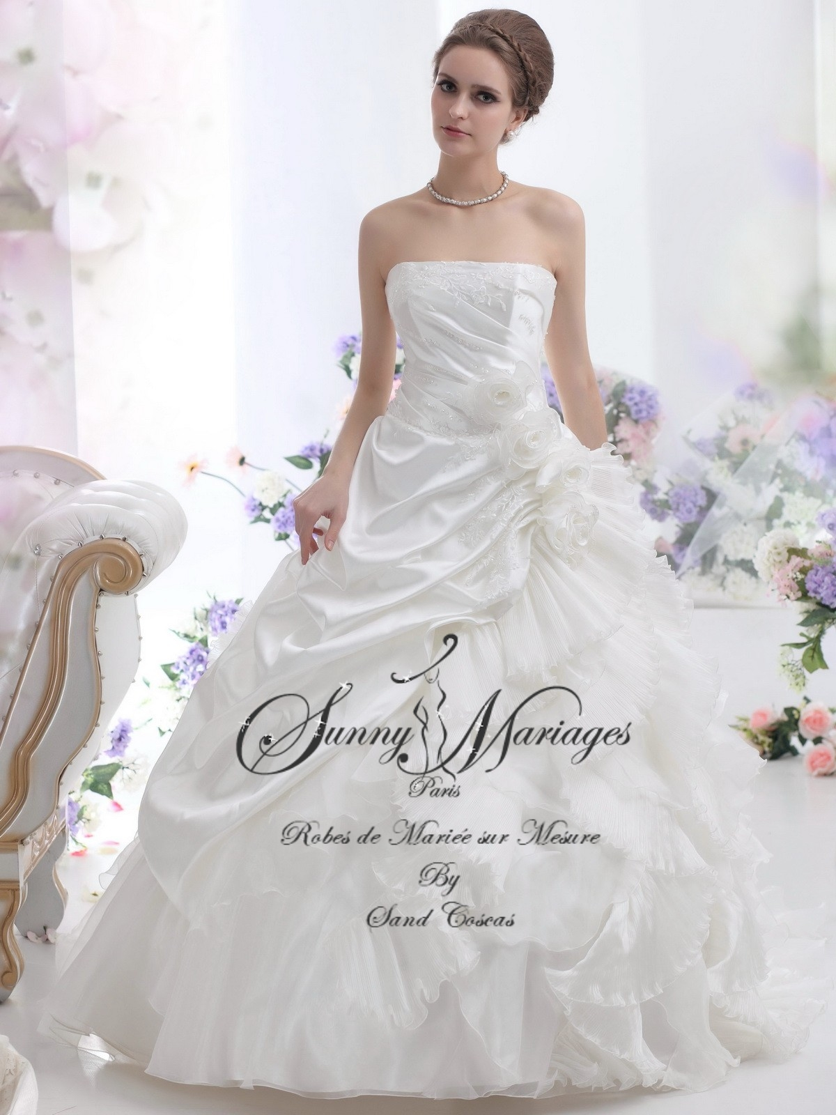 Robe de mariée bustier princesse, \u0026laq.