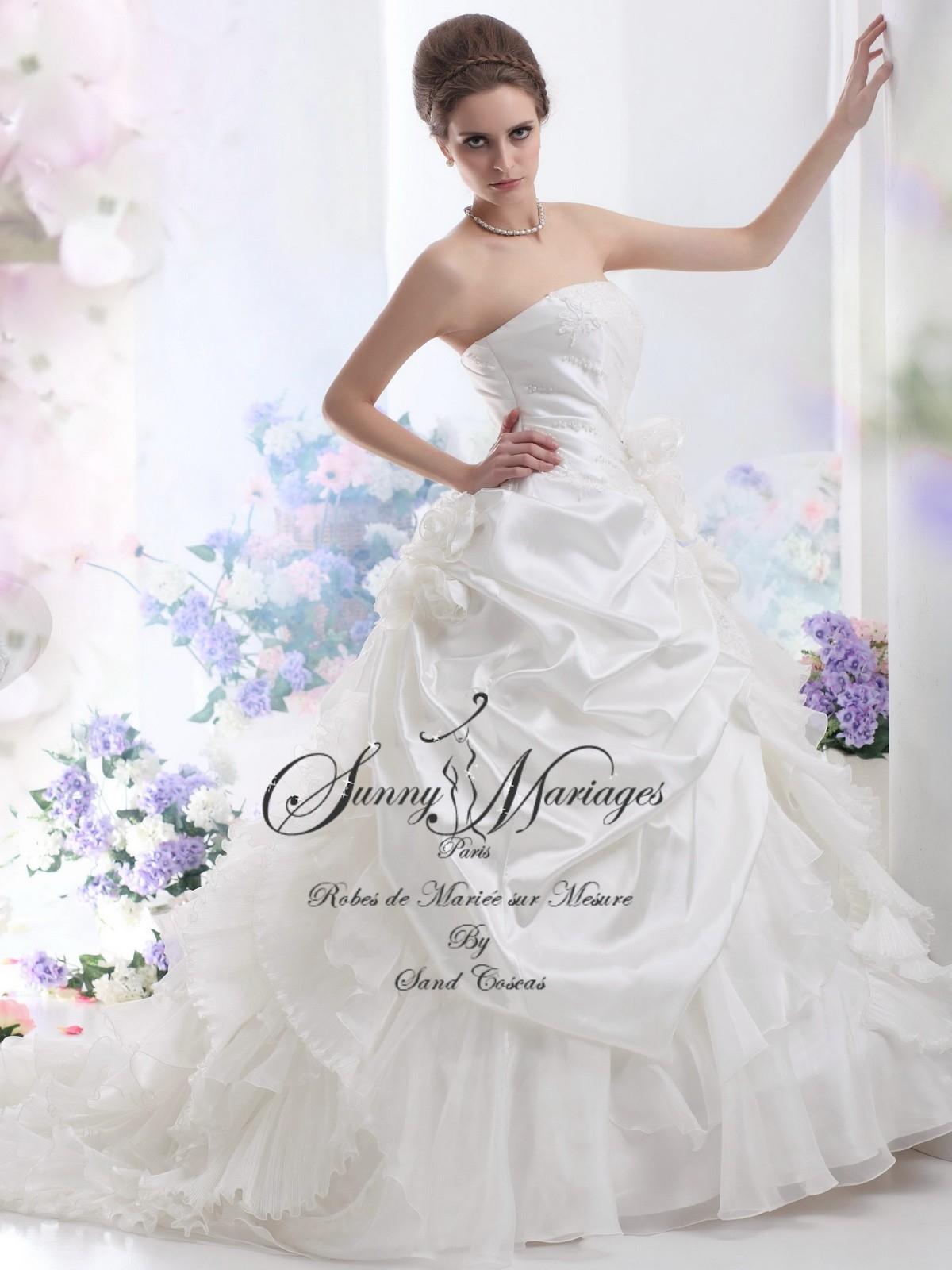 Robe de mariée bustier princesse, « Céleste »